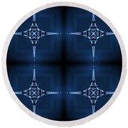 Eiffel Art 36a Round Beach Towel
