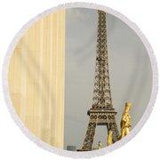 Eiffel Tour Paris Round Beach Towel