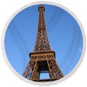 Eiffel Tower 2005 Ville Candidate Round Beach Towel