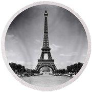 Eiffel Tower And Park 1909 Round Beach Towel