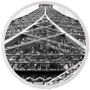 Eiffel Tower Round Beach Towel by Andrea Anderegg