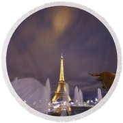 Eiffel Tower Dream Round Beach Towel