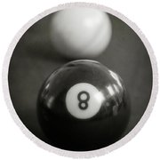 Eight Ball Round Beach Towel by Edward Fielding