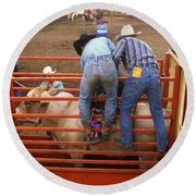 Rodeo Eight Seconds To Payday Round Beach Towel