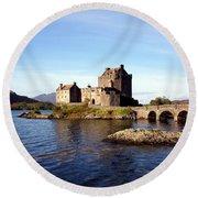 Eilean Donan Castle Kintail Scotland Round Beach Towel