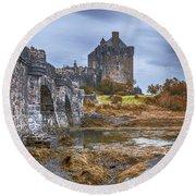 Eilean Donan Castle 3 Round Beach Towel