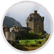 Eilean Donan Castle In Kyle Of Lochalsh Round Beach Towel