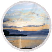 Eileen's Sunset Round Beach Towel