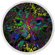 Einsteins Exploding Head Round Beach Towel