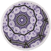 Einstein Mandala Round Beach Towel