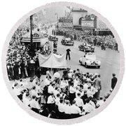 Eisenhower Victory Parade Round Beach Towel