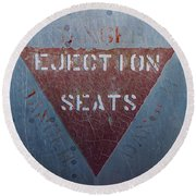 Ejection Seats Round Beach Towel