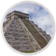 El Castillo Round Beach Towel