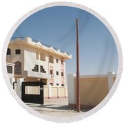El Farafar Oasis Round Beach Towel