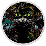 El Gato Round Beach Towel