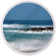 El Segundo Beach Jetty Round Beach Towel