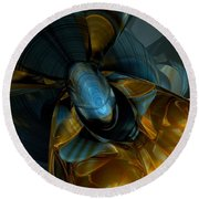Elated Abstract Round Beach Towel