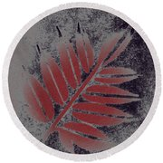 Elderberry Leaf Round Beach Towel