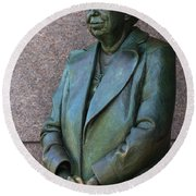 Eleanor Roosevelt Memorial Detail Round Beach Towel