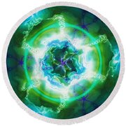 Electric Attraction Round Beach Towel