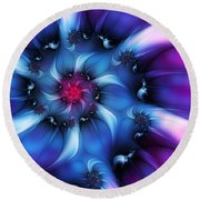 Electric Colours Round Beach Towel