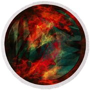 Electric Dreams Of The Ancients Round Beach Towel
