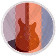 Electric Guitar Solo Round Beach Towel