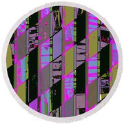 Electric Magenta Round Beach Towel