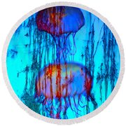 Electric See Round Beach Towel