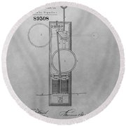 Electric Signal Patent Drawing Round Beach Towel