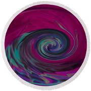 Electric Tidal Wave Round Beach Towel