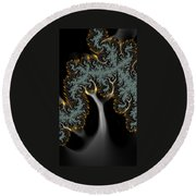 Electric Tree - Phone Cases And Cards Round Beach Towel