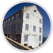 Electrical Repair Shop Alcatraz Island Round Beach Towel