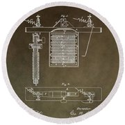 Electroplating Procedure Patent Round Beach Towel