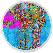 Elefantos - Av03-ps01 Round Beach Towel by Variance Collections