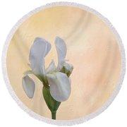 Elegance In White Round Beach Towel