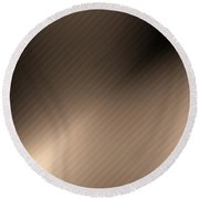 Elegant Brown Abstraction Round Beach Towel