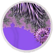 Elegant Tentacles Purple And Lilac Round Beach Towel