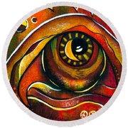 Elementals Spirit Eye Round Beach Towel