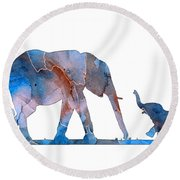 Elephant 01-3 Round Beach Towel