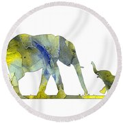 Elephant 01-5 Round Beach Towel