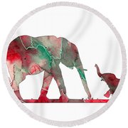Elephant 01-6 Round Beach Towel