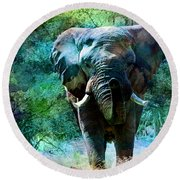 Elephant - Featured In Comfortable Art- Wildlife- And Nature Wildlife Groups Round Beach Towel