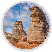 Elephant's Feet Rock Formation Round Beach Towel