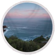 Elevated View Of Monte Igueldo Round Beach Towel