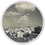 Elevated View Of The New Town, Umm Round Beach Towel