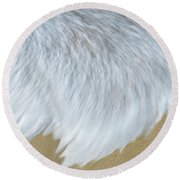 Elevated View Of Waves In Motion, Playa Round Beach Towel
