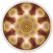 Eleven Sacred Steps Of Light K1 Round Beach Towel by Derek Gedney