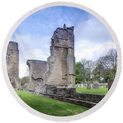 Elgin Cathedral Community - 19 Round Beach Towel by Paul Cannon