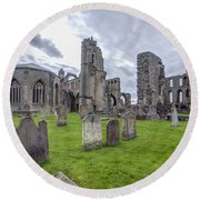 Elgin Cathedral Community - 3 Round Beach Towel